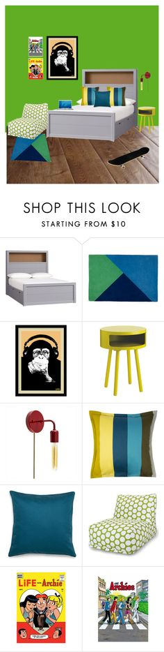 """""""Eden's Room"""" by madelynnhughes on Polyvore featuring interior, interiors, interior design, home, home decor, interior decorating, Olivier Desforges, Amy Sia, Dot & Bo and MAC Cosmetics"""