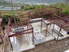 Home Design Floor Plans, Home Building Design, Metal Building Homes, Building A House, Steel Frame House, Steel House, Tyni House, House Roof, Modern Small House Design
