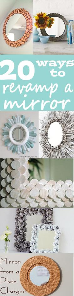 20 ways to revamp, diy, and add some flair to an old mirror