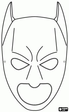 free coloring pages , coloring sheets , printable coloring pages Free Coloring Pages, Printable Coloring Pages, Coloring Sheets, Superhero Template, Superhero Party, Villains Party, Batman Mask, Craft Activities For Kids, Kirigami
