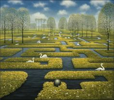 Jacek Yerka - The Labyrinth of Swans