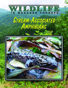 Stream-associated amphibians, by the Oregon Forest Resources Institute