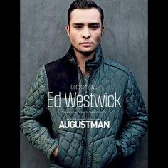 Ed Westwick: Capa e recheio da AugustMan Malásia