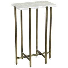 Interlude Home Zahara Rectangular Drink Table