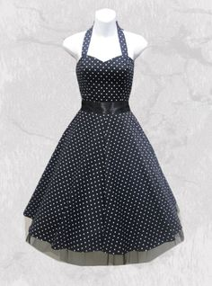 "Robe vintage HR London ""Black & White Dot"" 44,99€"
