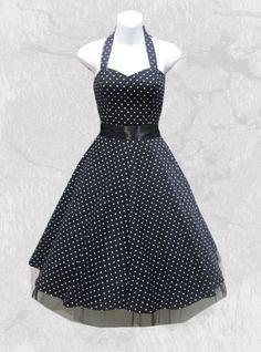 "Robe vintage HR London ""Black & White Dot"" 44,99€"