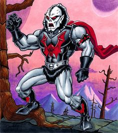 Hordak - Ruthless Leader of the Evil Horde. Done with Copic Markers on a 6.3''x6.7'' card-stock.