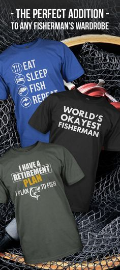 Love fishing? Come check our selection of shirts perfect for anyone who loves to fish. Plus buy and two or more items and get free shipping today.