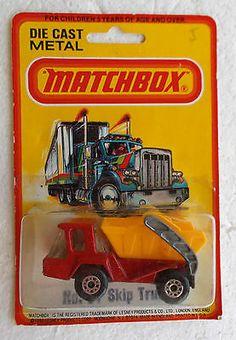 1976 Lesney Matchbox Superfast #37 SKIP TRUCK With RARER BROWN METALLIC Base MOC - http://www.matchbox-lesney.com/32795
