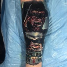 Tattoo By: @paulackertattoo A Nightmare on Elm Street (1984) Tag your work at #horror_sketches to be featured.