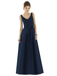 Alfred Sung D623 Sample Sale Bridesmaid Dress in Navy blue