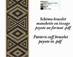 He encontrado este interesante anuncio de Etsy en https://www.etsy.com/es/listing/206489044/cuff-bracelet-pattern-black-and-gold-for