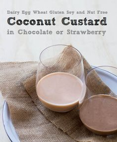 Coconut Custard in Three Tasty Flavours (Dairy Gluten and Egg Free)