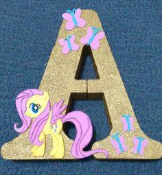 Letras my little pony Cumple My Little Pony, Little Pony Cake, My Little Pony Birthday Party, My Lil Pony, Unicorn Birthday Parties, 7th Birthday, Unicorn Party, My Little Pony Bedroom, Rainbow Dash Party