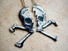 till death do you part best friends pirate skull by TheTamerlane