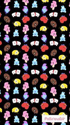 LunarNoona | BTS | Bangtan | V | Taehyung | Jhope | Jungkook | Rapmonster | Rapmon | Jin | Suga | Jimin Min Yoongi Wallpaper, Bts Wallpaper, Iphone Wallpaper, Bts Bangtan Boy, Bts Jimin, Line Friends, Bts Chibi, About Bts, Bts Lockscreen