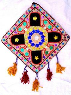 GotikART Filzbild, bestickter Filz, Ornament von KunstKaufRauschArtig auf DaWanda.com