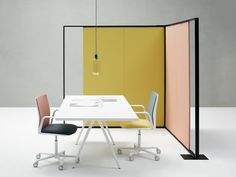 Download the catalogue and request prices of Parentesit freestanding By arper, fabric workstation screen design Lievore Altherr Molina, parentesit Collection