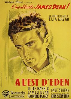 Original vintage James Dean 1955 East of Eden French movie / film poster James Dean, Elia Kazan, Cinema Posters, Film Posters, A L'est D'eden, Eden Movie, Frances Movie, Dramas, Life Reimagined