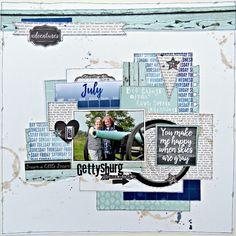 Gettysburg scrapbook layout by Tracee Provis