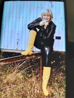Wellies Rain Boots, Wet Look, Rain Wear, Leather Pants, Lady, Clothing, Women, Fashion, Boots