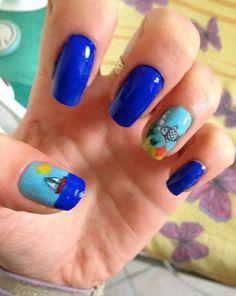 "The reviews of Miss Lora: FAKE TATTOOS:La mia nail art ""Summer I Miss You"""