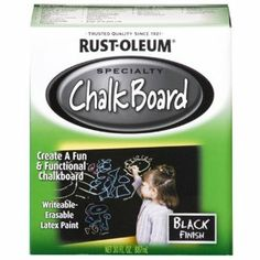 Rust-Oleum 206540 Chalkboard Brush-On, Black, 30-Ounce - Amazon.com