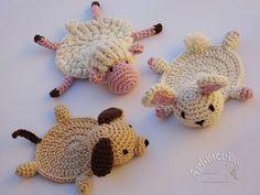 Artmorixe - Labores y manualidades: Posavasos a crochet (con patrón) - Reto Amistoso n...
