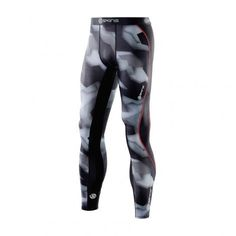 @SKINSGB DNAmic Compression long tights #hardloopbroek heren glitch camo