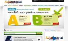 Aulatutorial, cientos de cursos gratuitos para seguir en línea
