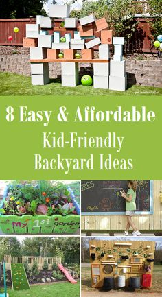 8 easy affordable kid friendly backyard ideas