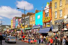 Another famous shopping area is the Camden Market in Camden Town.Camden Market is one big complex with stalls and shops selling products suc...