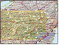 I-95 Pennsylvania map