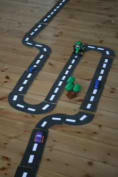 The Imagination Tree: DIY: Road Way Play! - Making this into a game to show the number line (will help with addition, subtraction and all child made)