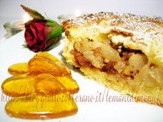 Cuor di pera all'amaretto in guscio di mandorla, Ricetta tortini di pere