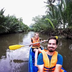 Day 80 - Kampot. Ending our last day in Kampot looking for a place to rent a kayak. So quiet just us two on the water