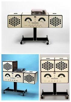 Achille and Pier Giacomo Castiglioni. 'RR-126' stereo system, 1965