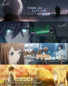1) Tokyo Ghoul 2) Charlotte 3) Orange 4) Your Lie in April