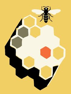 """Bee Aware"" Print from Treehugger 4/29/2011"