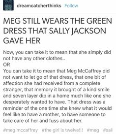 Meg and Sally Percy Jackson Head Canon, Percy Jackson Quotes, Percy Jackson Books, Percy Jackson Fandom, Rick Riordan Series, Rick Riordan Books, Book Tv, Book Nerd, Meg Mccaffrey