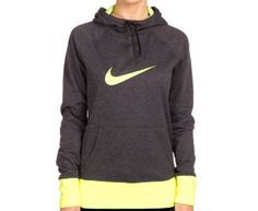 Nike Women's Swoosh Out All Time Hoodie - Black Heather