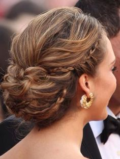 Formal mini braid updo