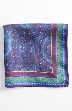 Etro Paisley Silk Pocket Square available at #Nordstrom