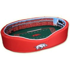 Arkansas Razorbacks Medium Football Stadium Pet Bed
