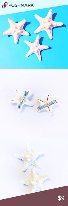 Starfish Mermaid Barrettes Handmade hair accessories! Handmade Accessories Hair Accessories