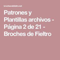 Patrones y Plantillas archivos - Página 2 de 21 - Broches de Fieltro