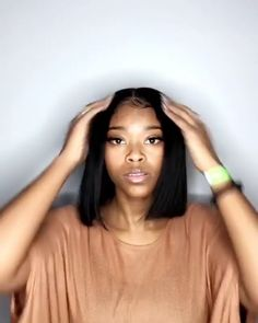 Looking for lace bob human hair wigs? Get your favourite straight hair bob wigs at lowest price on LsyBeauty Hair. Bob wigs are highly regarded for its natural qualities and beautiful styles. Wig Hairstyles, Straight Hairstyles, Hairstyles Videos, Medium Hairstyles, Black Weave Hairstyles, Pretty Hairstyles, Hairstyle Pics, Angled Bob Hairstyles, Curly Hair Styles