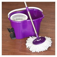 4-Piece Set: 360° Spinning Mop with Bucket