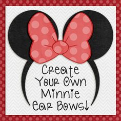 How to make your own Minnie Ears with changeable bows!!
