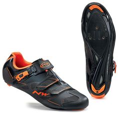 Northwave Sonic 2 SRS Road Cycling Shoes - Black-Orange Black Shoes, All Black Sneakers, Road Cycling Shoes, Performance Cycle, Bike Shoes, Derby, Oxford Shoes, Dress Shoes, Bicycle